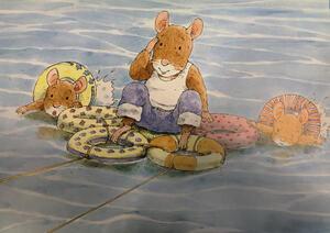 Bild aus dem Kinderbuch: Abenteuer am Meer.